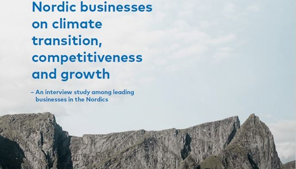 Forsiden av rapporten Nordic businesses on climate transition